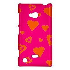 Hot Pink And Orange Hearts By Khoncepts Com Nokia Lumia 720 Hardshell Case