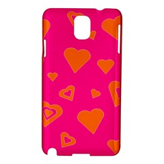 Hot Pink And Orange Hearts By Khoncepts Com Samsung Galaxy Note 3 N9005 Hardshell Case