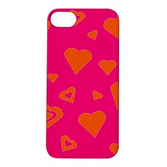 Hot Pink And Orange Hearts By Khoncepts Com Apple iPhone 5S Hardshell Case