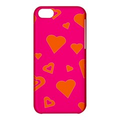 Hot Pink And Orange Hearts By Khoncepts Com Apple iPhone 5C Hardshell Case
