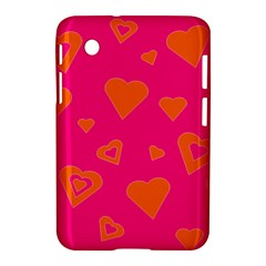 Hot Pink And Orange Hearts By Khoncepts Com Samsung Galaxy Tab 2 (7 ) P3100 Hardshell Case