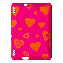 Hot Pink And Orange Hearts By Khoncepts Com Kindle Fire Hdx 7  Hardshell Case