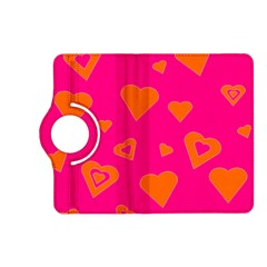 Hot Pink And Orange Hearts By Khoncepts Com Kindle Fire HD 7  (2nd Gen) Flip 360 Case