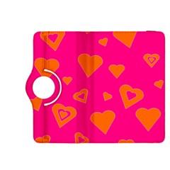 Hot Pink And Orange Hearts By Khoncepts Com Kindle Fire Hdx 8 9  Flip 360 Case