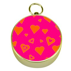 Hot Pink And Orange Hearts By Khoncepts Com Gold Compass