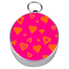 Hot Pink And Orange Hearts By Khoncepts Com Silver Compass