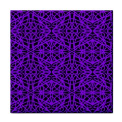 Black and Purple String Art Tile Coaster
