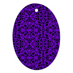 Black and Purple String Art Ornament (Oval)