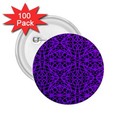 Black and Purple String Art 2.25  Button (100 pack)