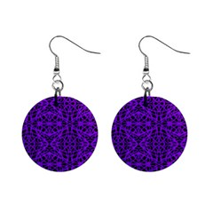 Black and Purple String Art 1  Button Earrings