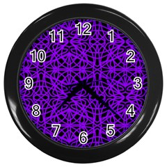 Black and Purple String Art Wall Clock (Black)