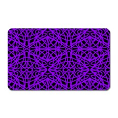 Black and Purple String Art Magnet (Rectangular)