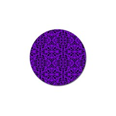 Black and Purple String Art Golf Ball Marker