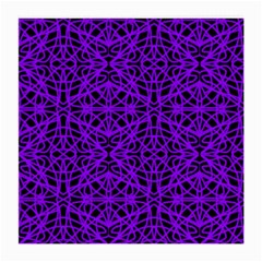Black and Purple String Art Glasses Cloth (Medium, Two Sides)