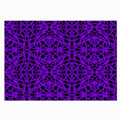 Black and Purple String Art Glasses Cloth (Large, Two Sides)