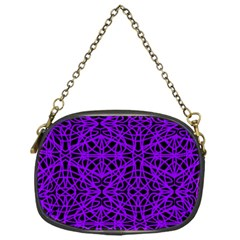 Black And Purple String Art Chain Purse (one Side)
