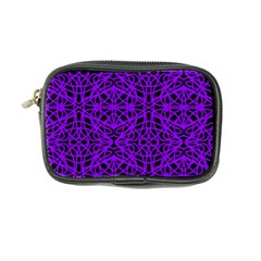 Black And Purple String Art Coin Purse