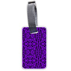 Black And Purple String Art Luggage Tag (one Side)