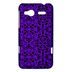 Black and Purple String Art HTC Radar Hardshell Case