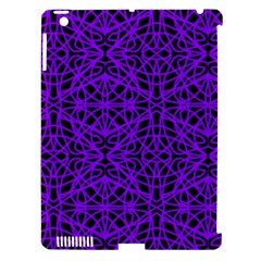 Black And Purple String Art Apple Ipad 3/4 Hardshell Case (compatible With Smart Cover)