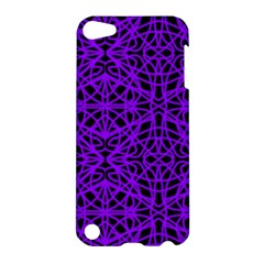 Black and Purple String Art Apple iPod Touch 5 Hardshell Case