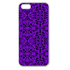 Black And Purple String Art Apple Seamless Iphone 5 Case (clear)