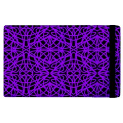 Black And Purple String Art Apple Ipad 3/4 Flip Case