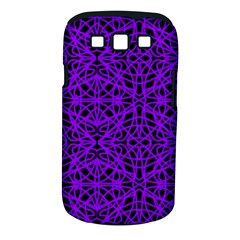 Black and Purple String Art Samsung Galaxy S III Classic Hardshell Case (PC+Silicone)