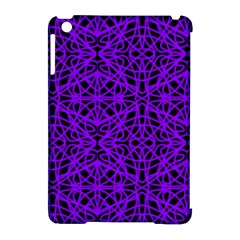 Black And Purple String Art Apple Ipad Mini Hardshell Case (compatible With Smart Cover)
