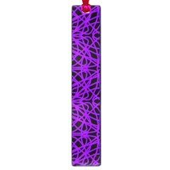 Black and Purple String Art Large Book Mark