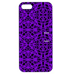 Black And Purple String Art Apple Iphone 5 Hardshell Case With Stand