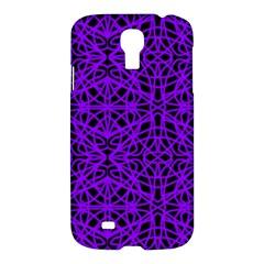 Black And Purple String Art Samsung Galaxy S4 I9500/i9505 Hardshell Case