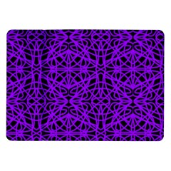 Black and Purple String Art Samsung Galaxy Tab 10.1  P7500 Flip Case