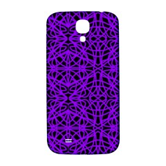 Black and Purple String Art Samsung Galaxy S4 I9500/I9505  Hardshell Back Case