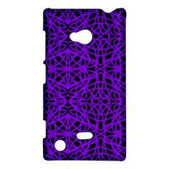 Black and Purple String Art Nokia Lumia 720 Hardshell Case