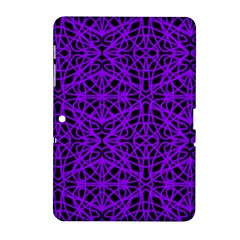 Black and Purple String Art Samsung Galaxy Tab 2 (10.1 ) P5100 Hardshell Case