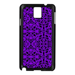 Black and Purple String Art Samsung Galaxy Note 3 N9005 Case (Black)