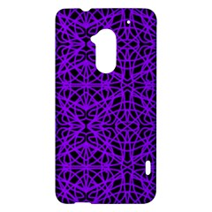 Black and Purple String Art HTC One Max (T6) Hardshell Case