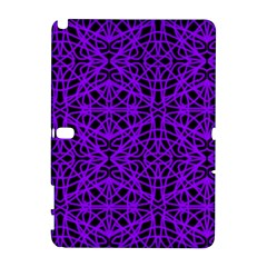 Black And Purple String Art Samsung Galaxy Note 10 1 (p600) Hardshell Case