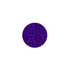 Black and Purple String Art 1  Mini Button