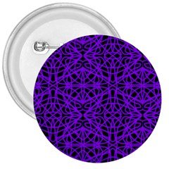 Black and Purple String Art 3  Button