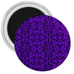 Black and Purple String Art 3  Magnet