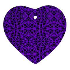 Black And Purple String Art Ornament (heart)