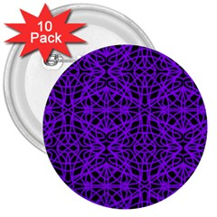 Black and Purple String Art 3  Button (10 pack)