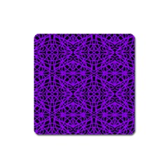 Black and Purple String Art Magnet (Square)