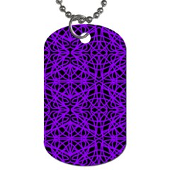 Black and Purple String Art Dog Tag (One Side)