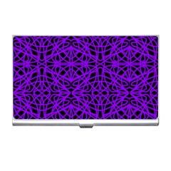 Black and Purple String Art Business Card Holder