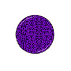 Black And Purple String Art Hat Clip Ball Marker (4 Pack)