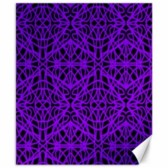 Black and Purple String Art Canvas 8  x 10