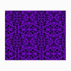Black and Purple String Art Glasses Cloth (Small, Two Sides)